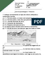 Geografia - Relevo e hidrografia ( 5 questões).docx