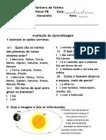 O palneta Terra ; O Brasil no Continente - Geografia.docx