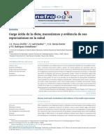 2019 Carga ácida de la dieta; mecanismos y evidencia de sus repercusiones en la salud