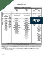 grade 1 math t and l framework