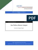 Una Política Exterior Integral - Guillermo Figari
