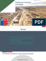 Instrumentos de Planificación Territorial y Areas de Riesgo