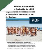 50 Argumentos a Favor de La Desnudez