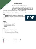Grreenhouse Experiment Lab Report[1]