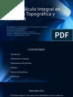 El Cálculo Integral en la Ingeniería Topográfica