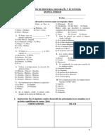 Evaluación de Historia Geografía y Economía 5to A