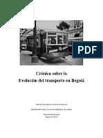 Evolución Del Transporte en Bogotá