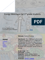 Energy WebQuest for 3rd Grade Students-revision