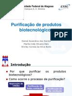 Purificação de produtos biotecnológicos
