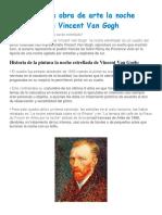 Análisis de la obra de arte la noche estrellada de Vincent Van Gogh.docx