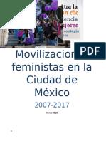 Movilizaciones Feministas en La Ciudad de México 2007-2017