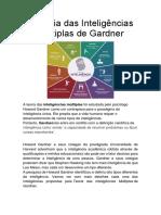 A Teoria Das Inteligências Múltiplas de Gardner