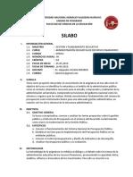 SILABO ADMINISTRACIÓN EDUCATIVA DE RECURSOS FINANCIEROS