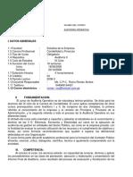 Sílabo de Auditoría Operativa