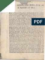 Acta Segunda Del Día 21 de Septiembre de 1811