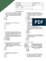 Evaluación Diagnóstico