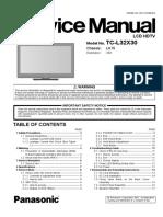 Panasonic Tc-l32x30 Chassis La15 Service Manual