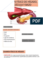 Examen Físico de Hígado, Vesícula y Bazo