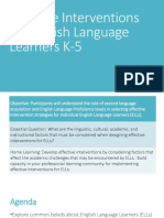 Effective Interventions for English Language Learners K-5