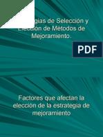 Estrategias de Selección y Elección de Métodos de Mejoramiento