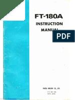 Yaesu FT-180A - Manual de uso y diagrama esquemático