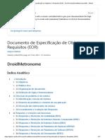 documento de especificação de objetivos