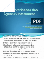 Características das águas subterrâneas