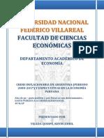 CRISIS INFLACIONARIA EN ARGENTINA (PERIODO 2000-2017) Y EXPECTATIVAS EN LA ECONOMÍA PERUANA I