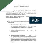 Tipos de Organigramas (Direccion y Control
