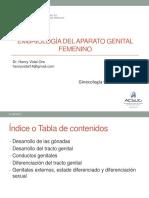02. Embriología Del Aparato Genital Femenino_Dr. Vidal