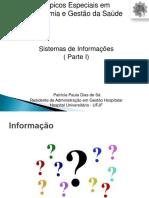 Aula Sistema de Informações Parte i