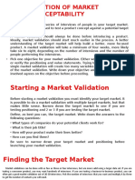 Validation of Market Acceptability