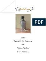 Usa 25 Litre Essential Oil Extractor Instructions