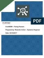 FortiSIEM Parsing Details