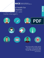 Oral Health a Quick Guide for Care Home Managers