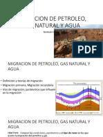 3.0 Migracion de Petroleo, Gas Natural y Agua