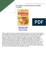 Caminos de La Ciencia Una Introduccion Al Metodo Cientifico