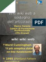 """Presentazione """"Wiki wiki web a sostegno dell'articolazione"""""""