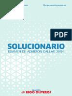 Solucionario UNAC 2019-1