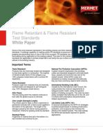 Flame Retardant &Amp; Flame Resistant Test Standards