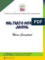 Maltrato Infanto Juvenil - Marco Conceptual