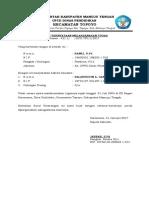 Surat Pernyataan Melaksanakan Tugas Kepsek