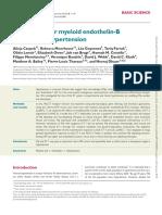 A Novel Role Formyeloid Endothelin-B Receptors in Hypertension