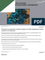 Reactivos de Flotación Colectores y Espumantes,2019
