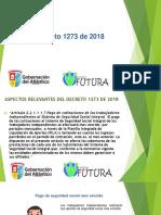 Decreto 1273 de 2018