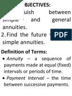 Lesson 28 - Simple Annuities (Future Value)