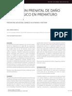 prevencion prenatal de daño neurologico en prematuro extremo CLC 2016