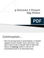 Lesson 3 Present Egg Dishes