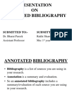 PRESENTATION ON Annotated bibliography.pptx