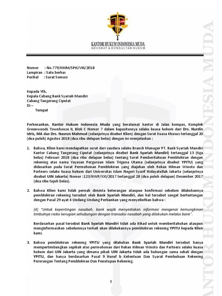 Surat Somasi Bsm Docx